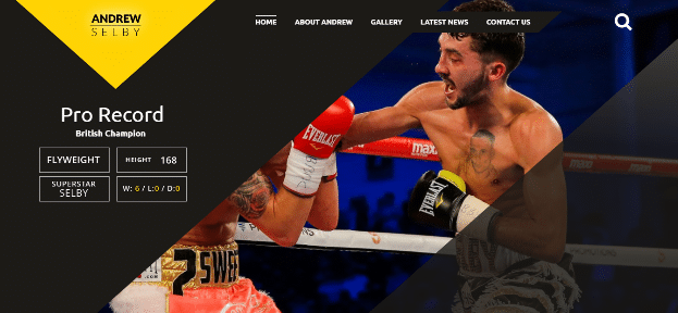 British Champion Andrew Selby's Website goes live in just a few days
